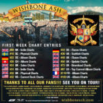 """First week chart entries for """"Coat of Arms"""""""